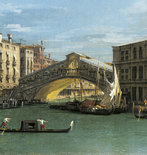 Venice: The Rialto Bridge from the North