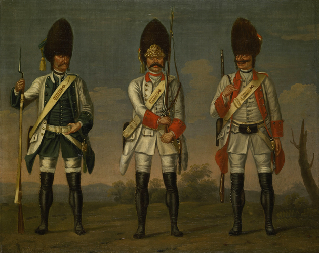Grenadiers, Infantry Regiments 'Los Rios', 'Waldeck' and 'Wurmbrand'