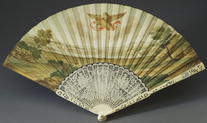 Fan depicting 'Baccus and Ariadne on the island of Naxos'