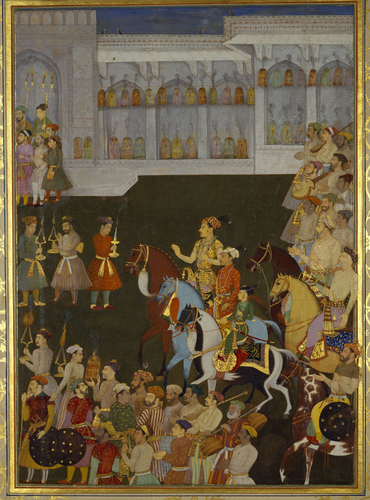 Master: The Padshahnama Item: The Wedding procession of Prince Shah-Shuja' (4 March 1633)