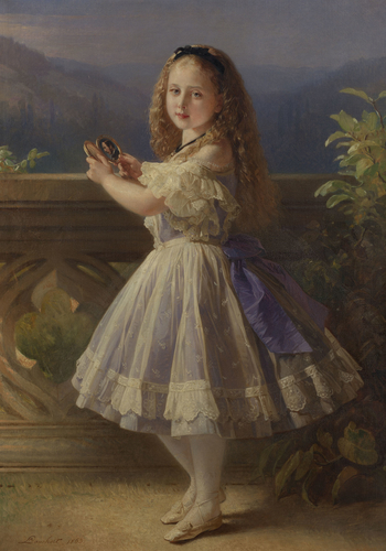 Princess Beatrice, later Princess Henry of Battenberg (1857-1944) when a child
