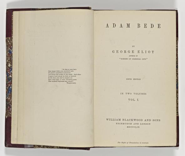 Adam Bede ; v. 1 / George Eliot
