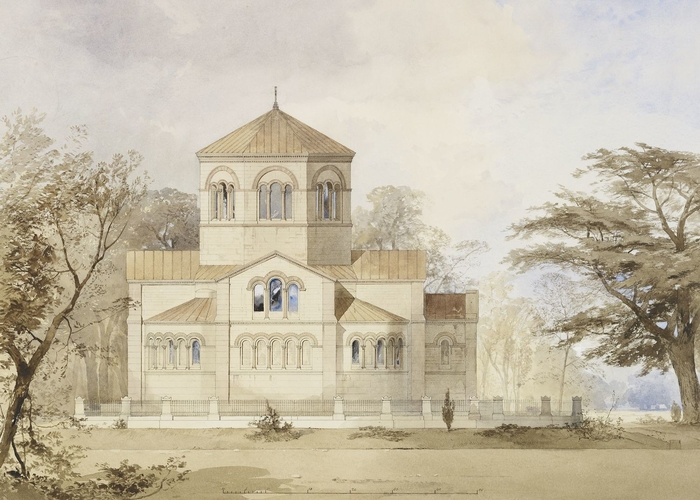Royal Mausoleum, Frogmore: realised design of the south elevation