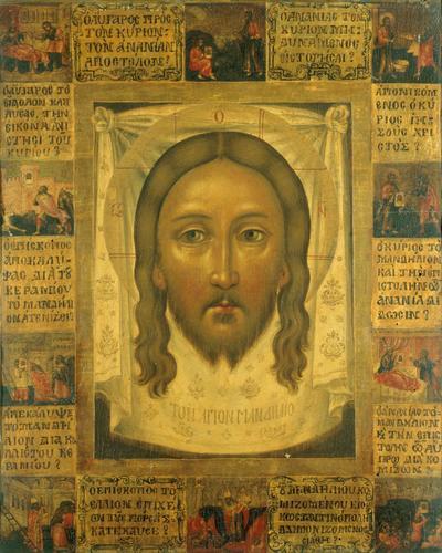 Byzantine School - Icon of the Mandylion of Edessa