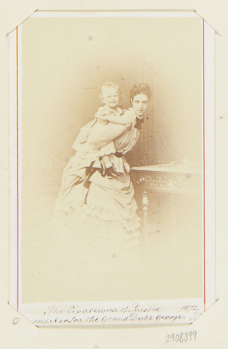 The Tsesarevna of Russia and her son, the Grand Duke George [sic]