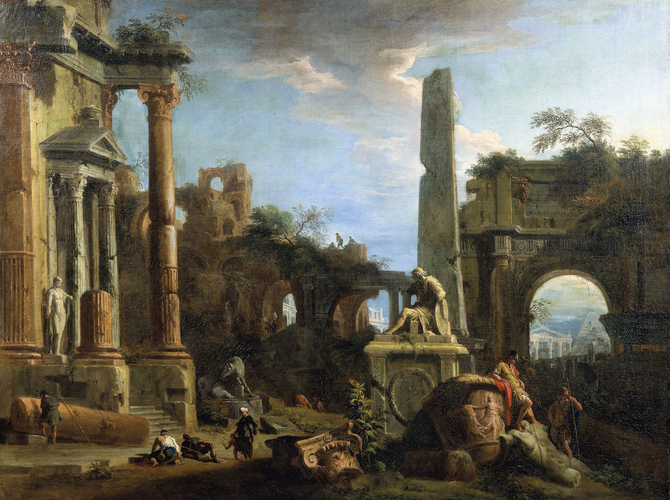 Caprice View with Roman Ruins