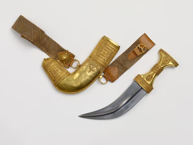 Jambiya (dagger) and scabbard