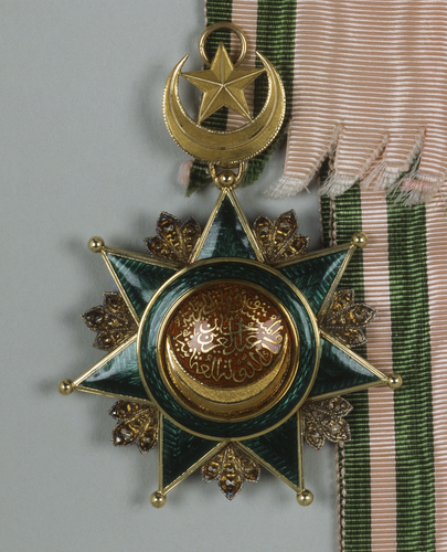 Order of Osmanieh, 1st class. Badge and sash. Possibly belonged to Edward VII