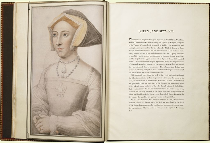 Imitations of original drawings by Hans Holbein, in the collection of his Majesty for the portraits of illustrious persons of the court of Henry VIII, with biographical tracts