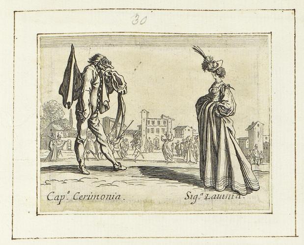 Master: Balli di Sfessania Item: Capitano Cerimonia and Signora Lavinia