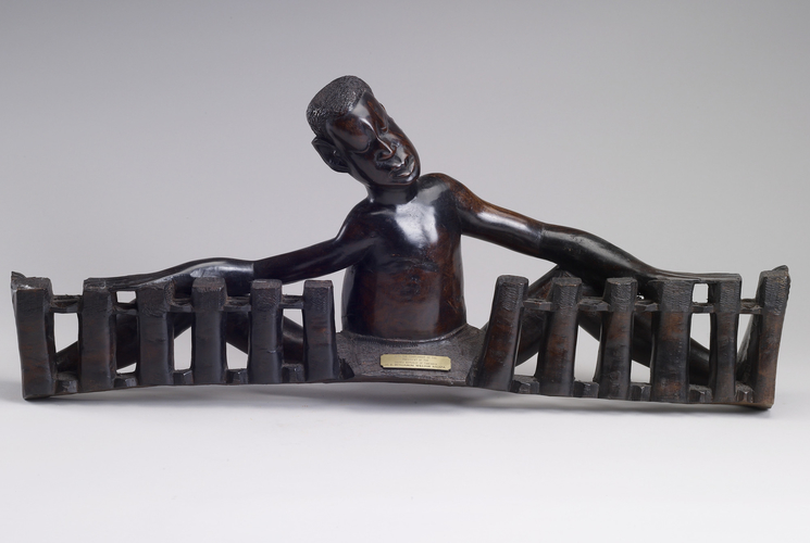 Ebony carving of a drummer