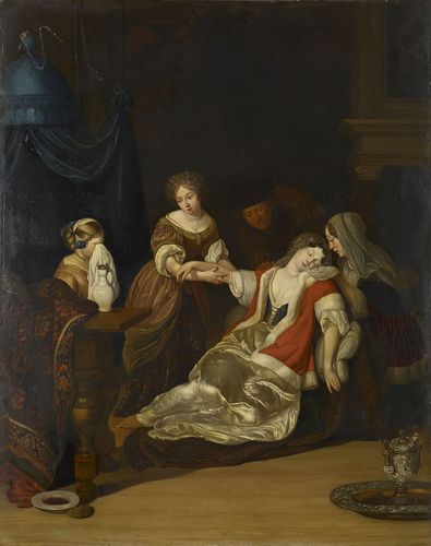 A Lady Fainting after having been Bled