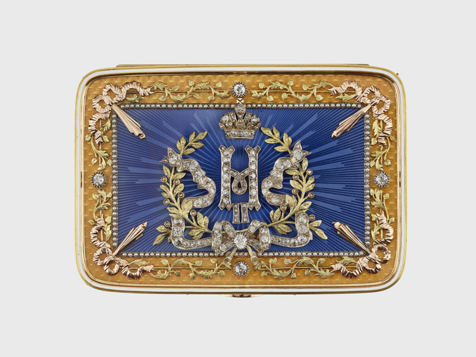 Presentation snuffboxwith cipher of Nicholas II (1868-1918)