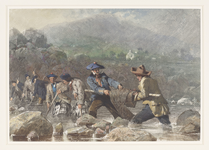 Salmon leistering in the River Dee, 9 September 1853