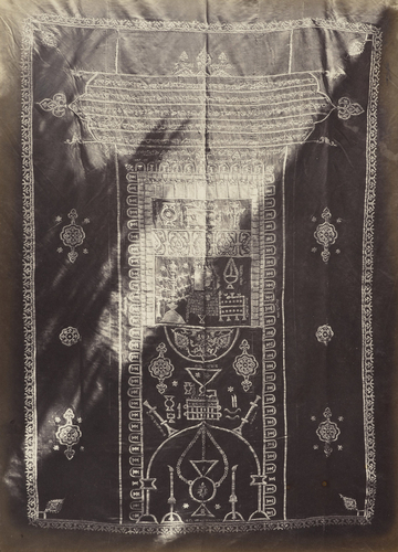 Embroidered cover at Nabulous [Nablus]