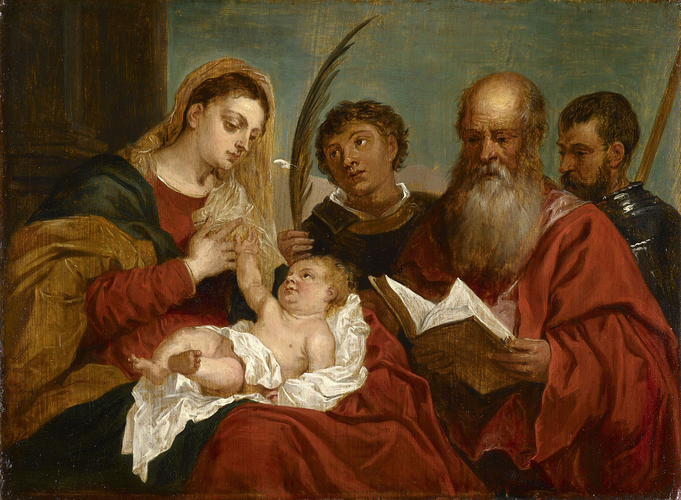 The Virgin and Child with Sts Stephen, Jerome and Maurice