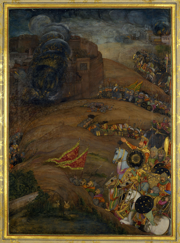Master: The Padshahnama Item: The Siege of Qandahar (May 1631)