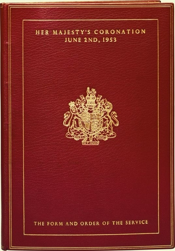 The Form and order of the service that is to be performed and the ceremonies that are to be observed in the Coronation of Her Majesty Queen Elizabeth II in the Abbey Church of St Peter Westminster on