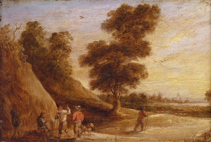 Peasants Talking in a Landscape