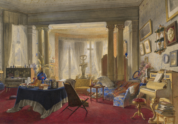 Darmstadt, the Neues Palais: the sitting-room of the Grand Duchess of Hesse