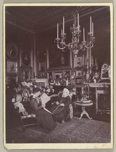 Queen Victoria and Princess Beatrice in the Queen's Sitting Room, Windsor Castle