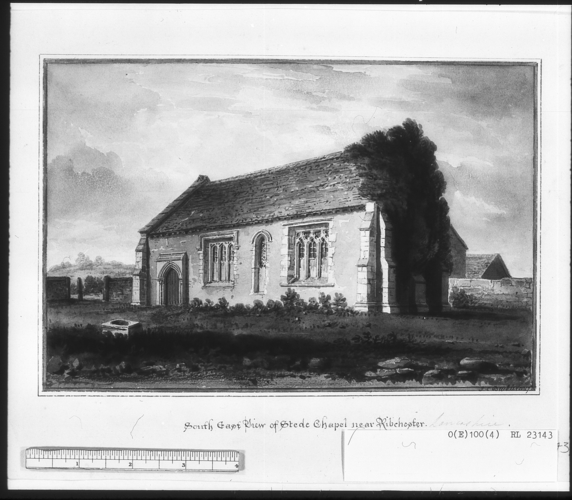 South East View of Stede Chapel near Ribchester