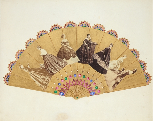 Fan design collage by Alexandra, Princess of Wales, c. 1866-69