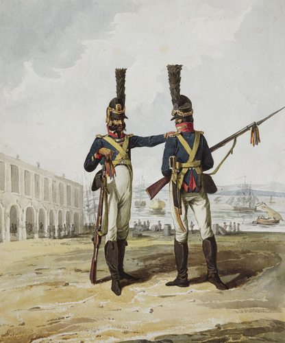 Portugues Army. Infantry Police Guard of Lisbon, 1812