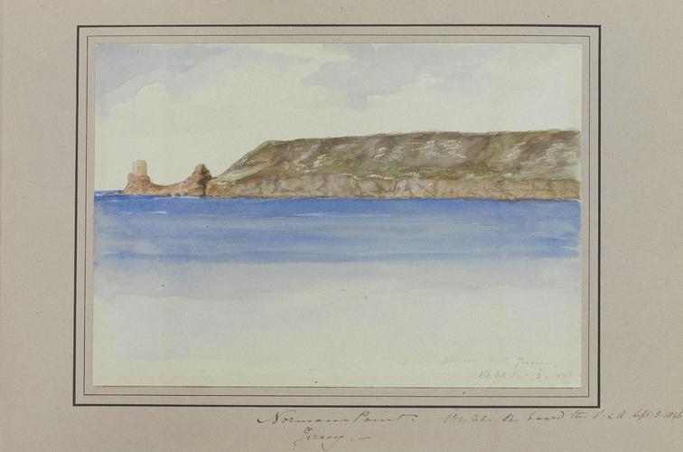 Master: Queen Victoria and Prince Albert's Album Vol. I. Item: Norman Point. Jersey