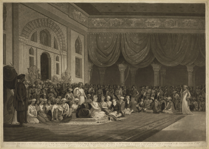 A Representation of the delivery of the Ratified Treaty of 1790 by Sir Charles Warre Malet