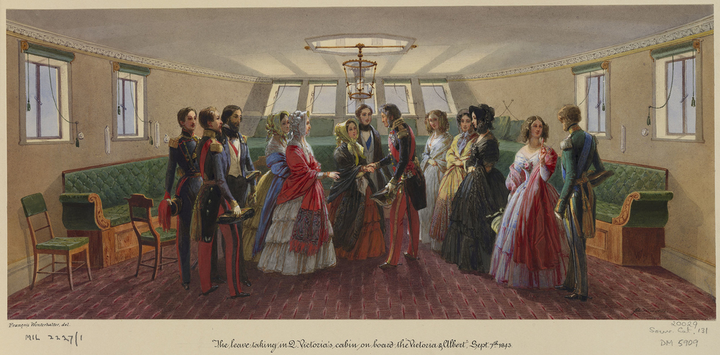 Louis-Philippe taking leave of Queen Victoria on board the royal yacht