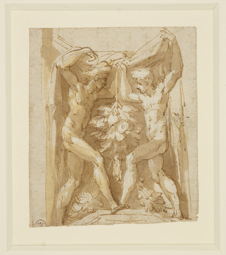 Study of figures in an architectural setting