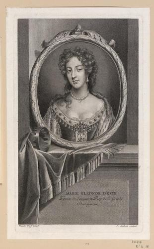 MARIE ELEONOR D'ESTE Epouse de Jacques II Roy de la Grande Bretagne