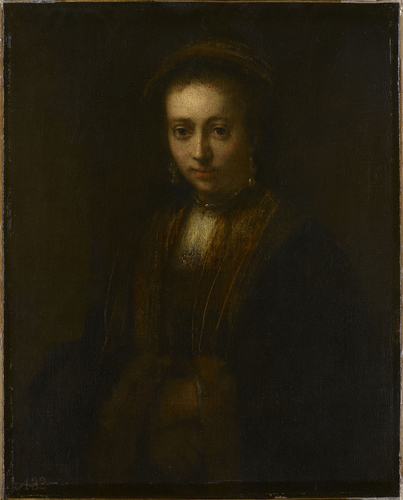Portrait of a Lady with Hands Folded (Hendrickje Stoffels?)