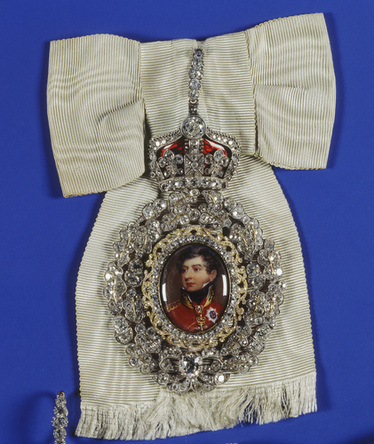Family Order of King George IV. Badge. Originally belonged to Charlotte, Queen of Wurttemberg