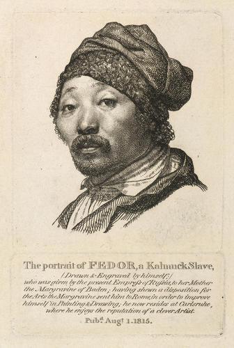 Fedor Iwanowitsch, a Kalmuck slave and artist