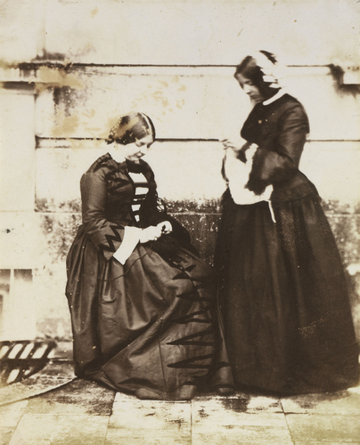 The Honourable Victoria Grosvenor and an unknown woman