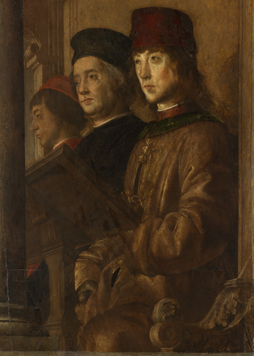 Federico da Montefeltro, Duke of Urbino, his Son Guidobaldo, and Others Listening to a Discourse