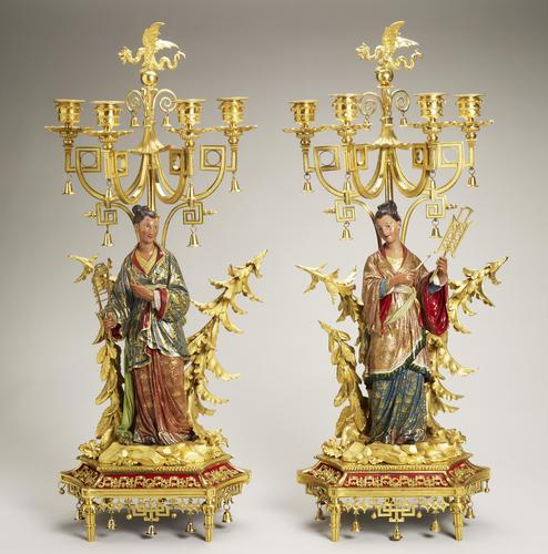 Set of candelabra