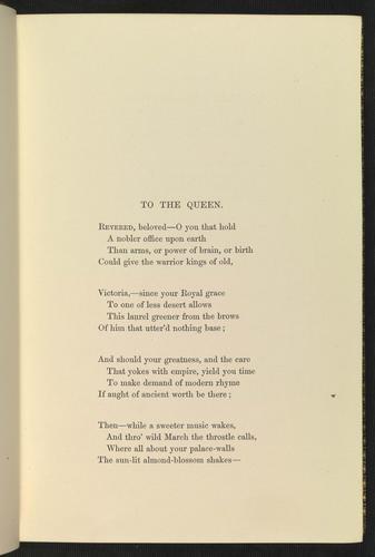 Alfred Tennyson 1st Baron Tennyson 1809 92 Poems