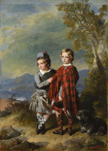 Albert Edward, Prince of Wales, with Prince Alfred