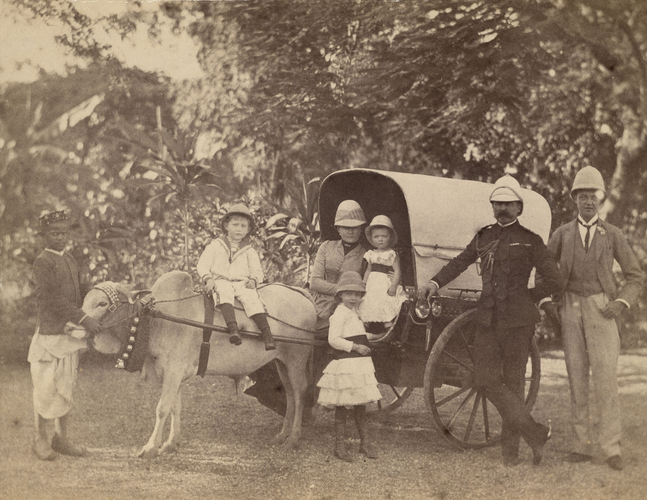 The Duke and Duchess of Connaught with their children in India