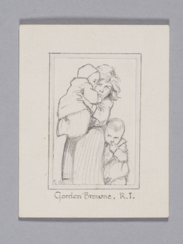 Woman with two infants