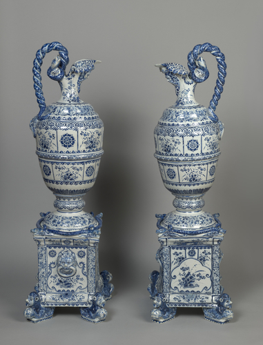 Master: Pair of ewers and stands