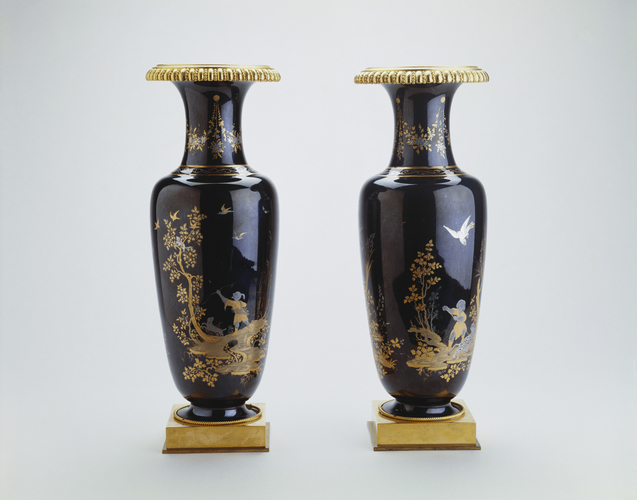 Pair of mounted vases