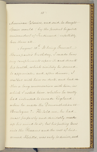 Extract From A Diary Of Rear Admiral Sir George Cockburn With Particular Reference To General Napoleon Bonaparte On The Passage England Saint