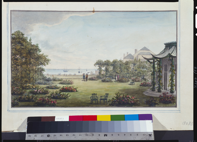 Designs for the Pavilion at Brighton: View from the proposed Private Apartments
