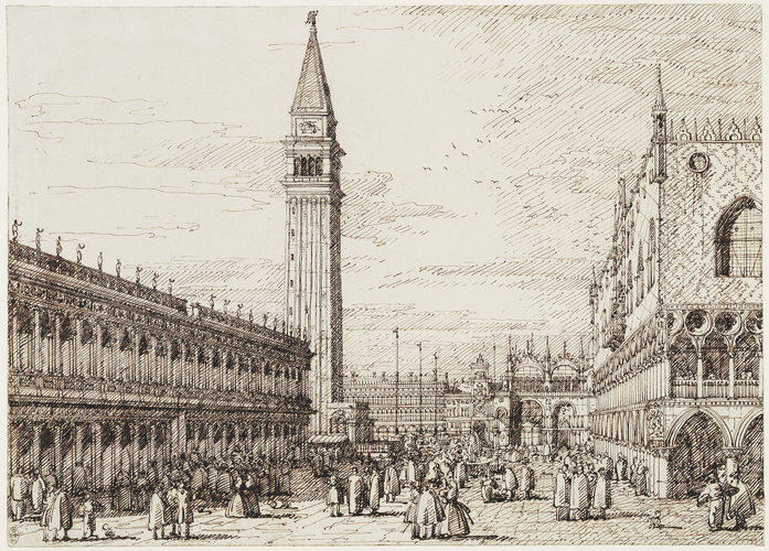 Venice: The Piazzetta, looking north