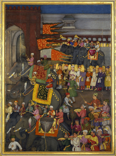 Master: The Padshahnama Item: The Wedding procession of Prince Dara-Shikoh (12 February 1633)