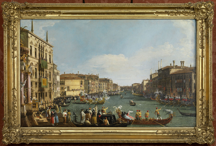 Frame for RCIN 404416, Canaletto, Venice: A Regatta on the Grand Canal